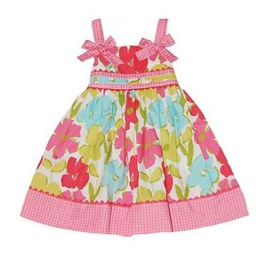 NWT Toddler Girls 2T 3T Pink Aqua Green Floral Cotton ...
