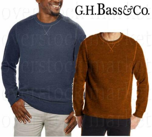 BASS /& CO BRUSHED FLEECE CREW NECK SWEATSHIRT VARIETY NEW MENS G.H