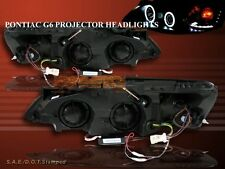 2005-2009 PONTIAC G6 BLACK TWIN CCFL HALO PROJECTOR HEADLIGHTS LED 2006 2007 08