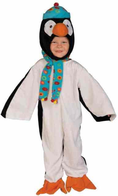 Penguin Winter Bird Animal Cute Fancy Dress Up Halloween Toddler Child Costume  sc 1 st  eBay & Toddler Penguin Costume Marching Animal Bird Halloween Size 2-4 Soft ...