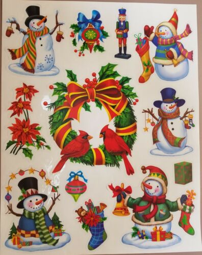 145 Holiday Window Clings Double Sided Dual Christmas Winter Snowflakes Large