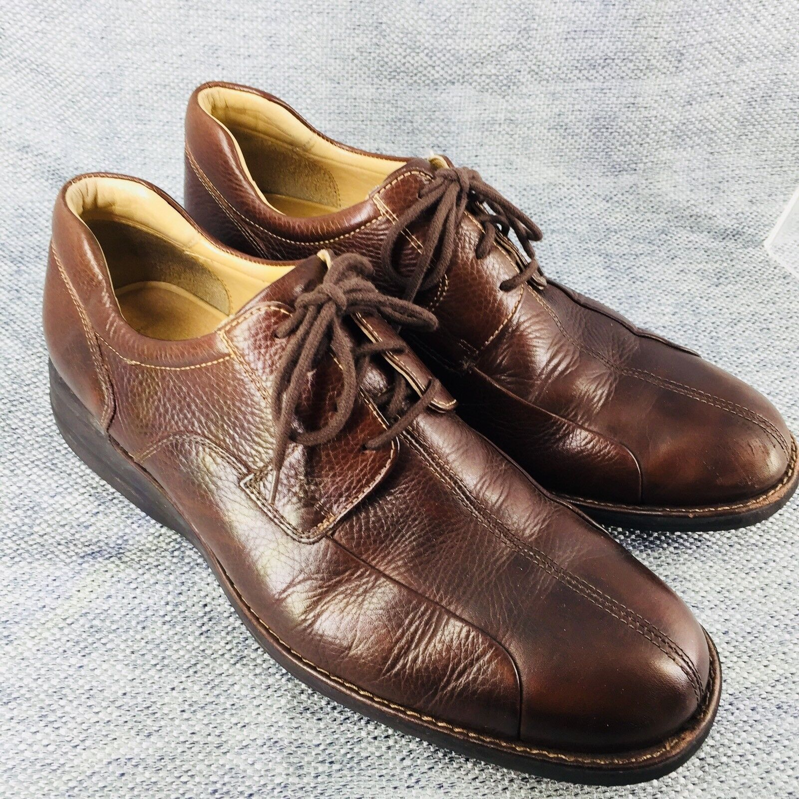 Johnston & Murphy Brown Lace Up Leather Derby Oxfords shoes Men's Size  11 M