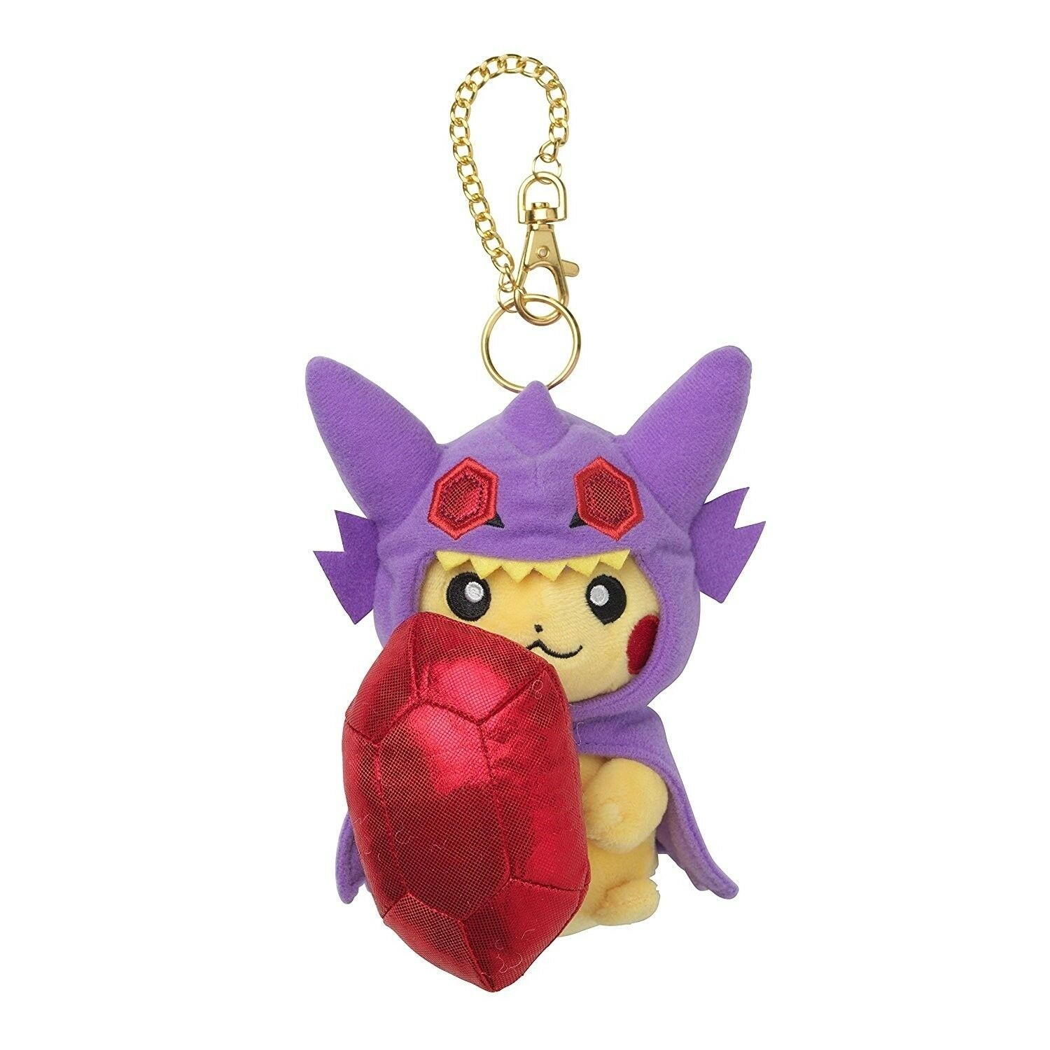 Pokemon Center Mascot Mega Sableye Poncho Pikachu Soft Plush Toys Doll Key Chain