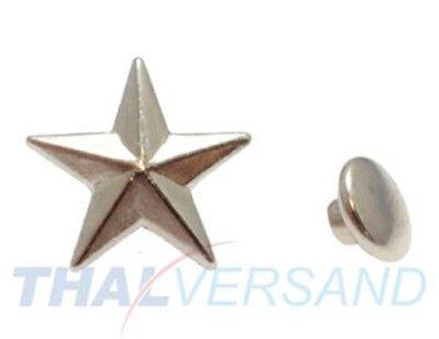 100 Stück Ziernieten Stern 13mm #10 Motivnieten Ledernieten Zierniete Motivniete