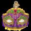 Old-World-Christmas-MARDI-GRAS-MASK-36241-N-Glass-Ornament-w-OWC-Box thumbnail 1