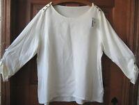 J.jill Tee 4x $69 Button-shoulder Ivory