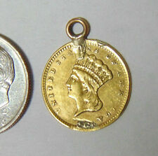 Indian Princess Gold Dollar 1856-1889 Type 3 Fancy Engraved Love Token #1
