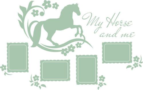 Wandtattoo Fotorahmen Bilderrahmen Pferd Deko für Kinderzimmer selbstklebend