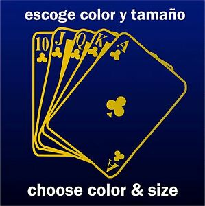 Sticker-Vinilo-Poker-Escoge-color-y-tamano-Pegatina-Wall-Decall