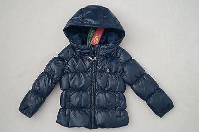 BENETTON süße Winterjacke Daunenjacke mit Kapuze Gr.74, 80, 8692 blau *NEU!* | eBay