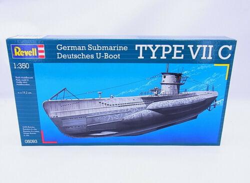 69239Revell 05093 German Submarine U-Boot Type VII C 1:350 Bausatz NEU in OVP