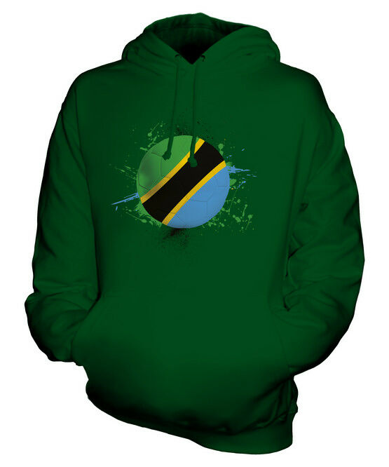 TANZANIA FOOTBALL UNISEX HOODIE TOP GIFT WORLD CUP SPORT