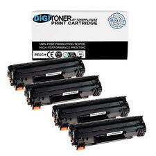 4 Pack CE285A 85A Black Printer Toner Cartridge for HP LaserJet Pro P1102W Combo