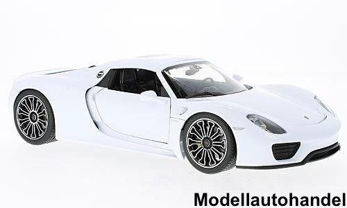 Porsche 918 Spyder Hard Top 2011 - weiss -  1 18 Welly     SALE