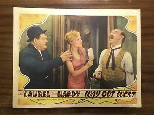 Laurel-And-Hardy-034-Way-Out-West-034-ORIGINAL-1937-Lobby-Card