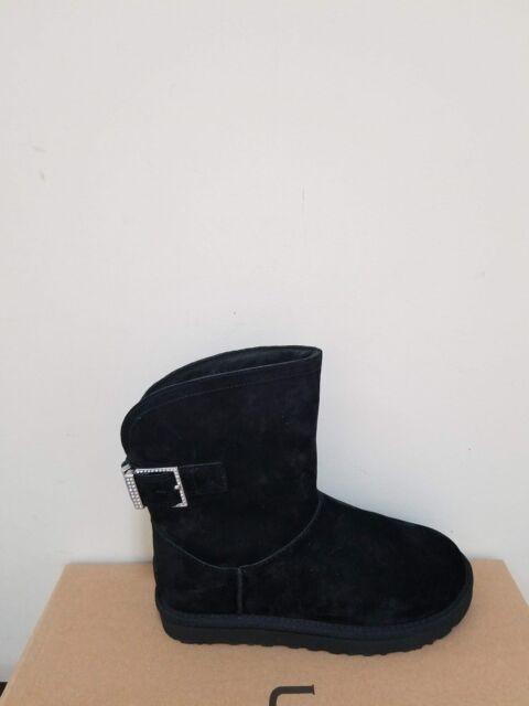 Ugg Australia Womens Remora Buckle W Crystal Bling Boots Size 6 NIB