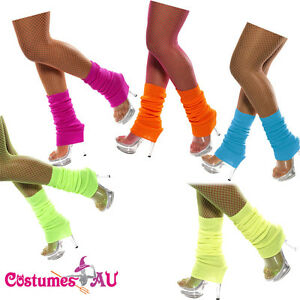 Womens-Ladies-Party-Legwarmers-Knitted-Neon-Dance-80s-Costume-1980s-Leg-Warmers
