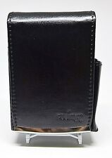 Fujima Black Leather Wrapped Full Flap Kings Size Cigarette Pack Holder