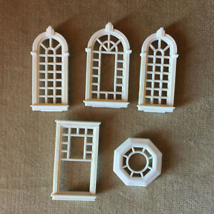 Vintage Fisher Price Precious Places Magic Key Mansion Windows Lot of 5