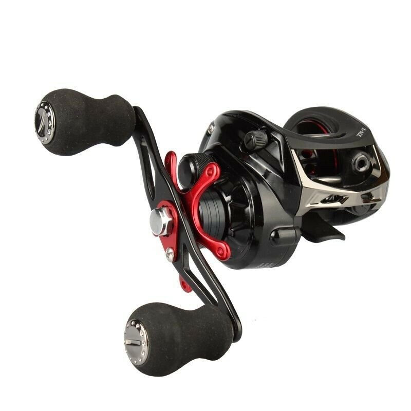 Baitcasting Fishing Reel 141BB 6.4 1 Gear Ratio 8kg Braking Power High Quality