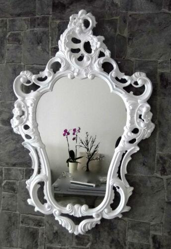 Miroir mural blanc baroque avec support mural 50x76 miroir armoire commode rétro repro