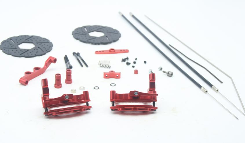 Cable Disc Brake rosso color for 1/5 hpi ROVAN KM baja 5b 5t 5sc rc car parts