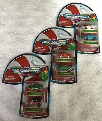 Micro Machines Candy Cane Package Stocking Stuffers 6 Cars New 2020