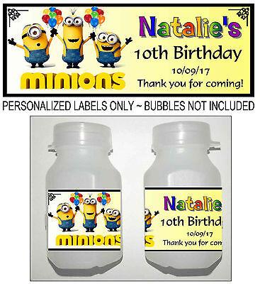 30 Jungle Zoo Animals Party Favors Personalized Mini Bubble Labels
