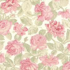 Moda 3 Sisters Paris Flea Market Garden Rose China White Fabric