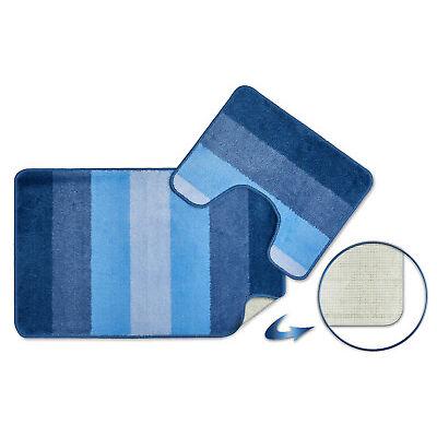 Cotton Chenille Shaggy 2 Piece Bathroom Mat & Pedestal Mat Set / Bath Rug