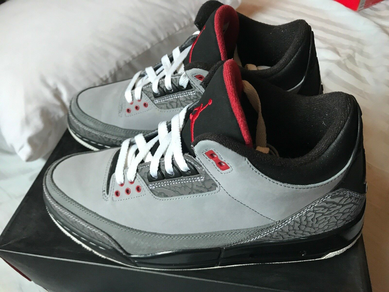 Air Jordan III 3 Retro Size 11 -Stealth JTH FREE THROW CEMENT-(Free 2day Ship)