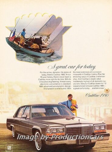 boat 1980 Cadillac deVille Sedan Classic Vintage Advertisement Ad H69
