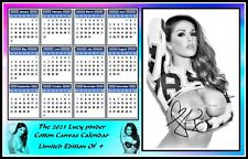 Lucy Pinder Calendario 2021 The 2021, Lucy Pinder, Signed, MAGNETIC Calendar. Limited Edition
