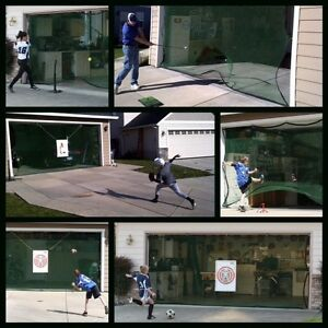 ... Hit-It-Deportes-neto-Golf-Futbol-de-beisbol- & Hit It Sports Net Golf Baseball Soccer Garage Door Opening Practice ...