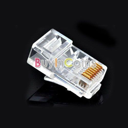 High Speed Clear 8P8C RJ45 CAT5 Cord Plug Ethernet 10X 50X 100X 500X 1000X