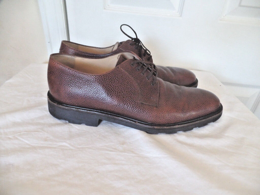 SALVATORE FERRAGAMO VERY NICE BROWN LEATHER CASUAL SHOES SZ 11D