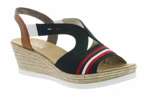 Rieker 619S6-14 Navy Womens Casual Comfort Slingback Sandals