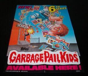 1986-Topps-gpk-GARBAGE-PAIL-KIDS-6-Original-Retail-Display-box-POSTER-wow