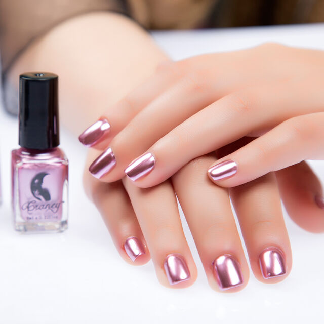 6ml Nail Polish Pink Metallic Mirror Effect Varnish