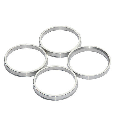 SET OF 4 ALUMINUM ALLOY HUB CENTRIC RINGS 73.1mm TO 67.1mm.