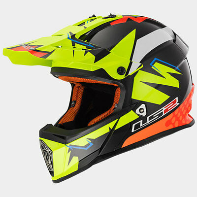 Casco Da Moto Per Cross Enduro Quad Ls2 Mx 437 Fast Volt Nuovo Taglia M Quell Summer Thirst