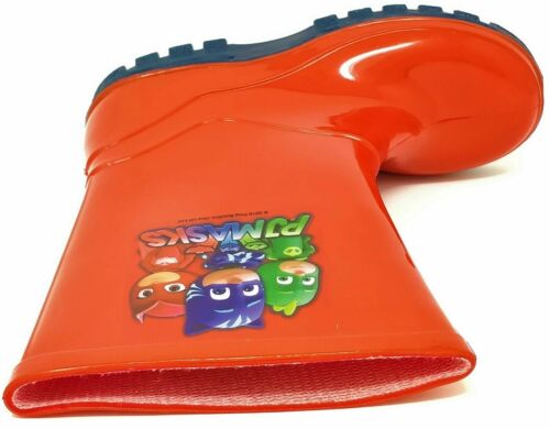 Enfants Garçons PJ Masks Red Wellies PLUIE NEIGE Wellington Bottes Taille 5-12