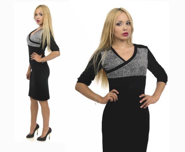 Top Woman Elegant Bodycon Mini Midi Dress Wedding Party Club Size 8 10 12 14 16
