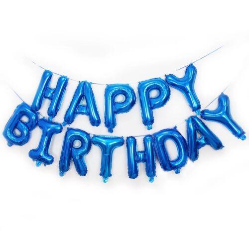 HAPPY BIRTHDAY Foil Confetti Balloons Banner Bunting Birthday Party Supply Decor