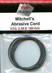 Alpha-Abrasives-Mitchell-039-s-Abrasive-Cord-3-32-034-2-38D-180-Grit-1-Metre-MIT056