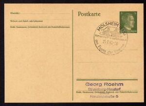 Ganzsache-MOLSHEIM-Cachet-Special-25-02-43-WW2