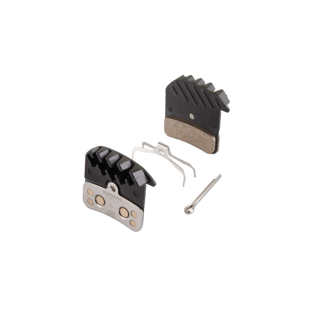 SHIMANO H03C Ice-Tech Bremsbeläge mit Kühlrippen Metall für Scheibenbremsen    Genial Und Praktisch