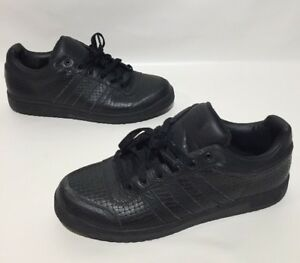 sale retailer 78705 9e490 Image is loading Adidas-Athletic-Shoes-Mens-All-Black-Patterned-Size-