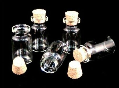 Vials /& Cork Stopper Decorative Storage Pendant 350 x Miniature Glass Bottles