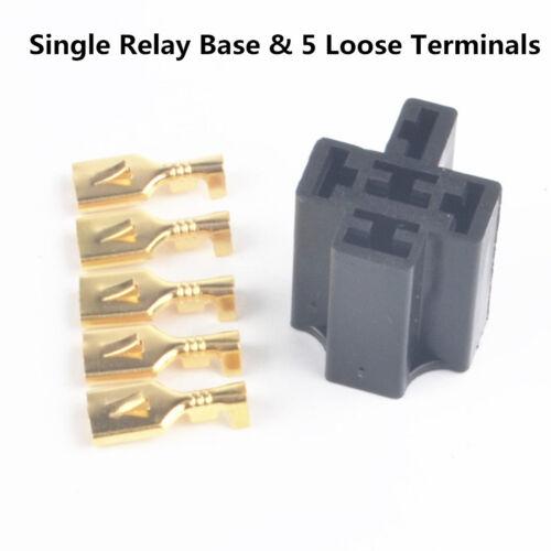 5PCS Loose Terminals/&Relay Plug For 4,5Pin /& Flasher Relays Holder Socket Base